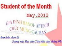 Read more about the article Học viên tiêu biểu Tháng 05/2012