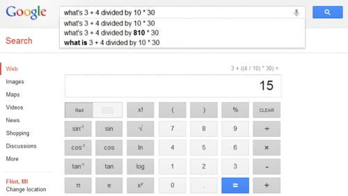 Google bổ sung máy tính khoa học 34 nút trong trình tìm kiếm