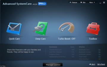 Advanced SystemCare PRO 4.2.0: Chăm sóc sửa chữa và tối ưu máy tính