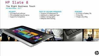 Thông tin tablet Slate 8 chạy Windows 8 của HP