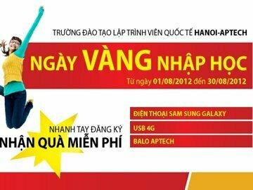 """"""" Ngày vàng nhập học"""" tại Hanoi-Aptech nhận quà tặng hấp dẫn"""