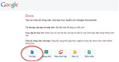 Google Docs: Soạn thảo bằng văn bản