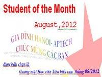 Học viên tiêu biểu Tháng 08/2012