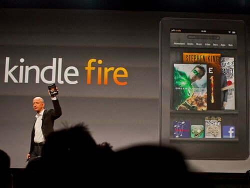 Amazon với hai mẫu Kindle Fire 7inch mà không có mẫu 10inch