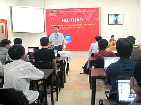 """dien toan dam may 51 Hanoi Aptech  """"Điện toán đám mây"""" bí ẩn không còn xa lạ"""