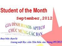 Học viên tiêu biểu Tháng 09/2012