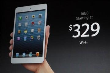 iPad mini – Giá bán gây thất vọng
