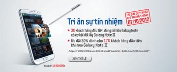 60 chiếc Galaxy Note 2 đổi miễn phí trong ngày 7/10