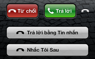 iOS 6 – Lịch sự khi từ chối cuộc gọi
