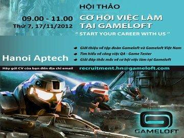 Gameloft và Hội thảo cơ hội việc làm cho các bạn trẻ tại Hanoi-Aptech
