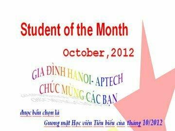 Read more about the article Học viên tiêu biểu tháng 10/2012