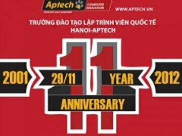 Thông báo : Mời tham dự Lễ kỷ niệm 11 năm ngày Thành lập Hanoi – Aptech