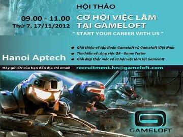 """Hanoi-Aptech mang tới bạn """"Cơ hội việc làm tại Gameloft"""""""