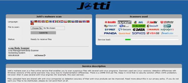 Jotti – Tổng hợp 20 ứng dụng quét virus nổi tiếng nhất hiện nay