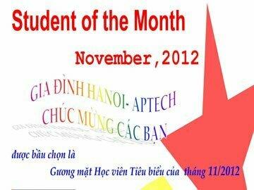 Học viên tiêu biểu tháng 11/2012