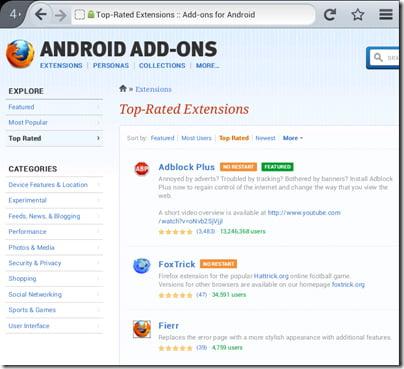 Firefox đánh giá cao hơn Chrome trên smartphone Android