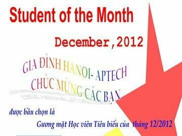 Read more about the article Học viên tiêu biểu tháng 12/2012
