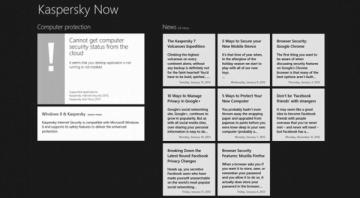 Windows 8 – Ứng dụng miễn phí Kaspersky Now