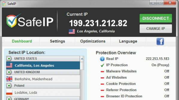 SafeIP – Phần mềm tiện ích giúp ẩn danh khi lướt web