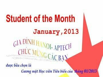 Học viên tiêu biểu tháng 01/2013