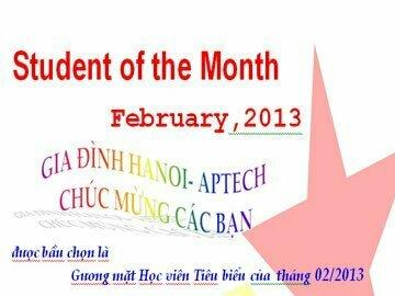 Read more about the article Học viên tiêu biểu tháng 02/2013