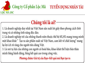 Read more about the article Công ty cổ phần Lộc Mã tuyển dụng