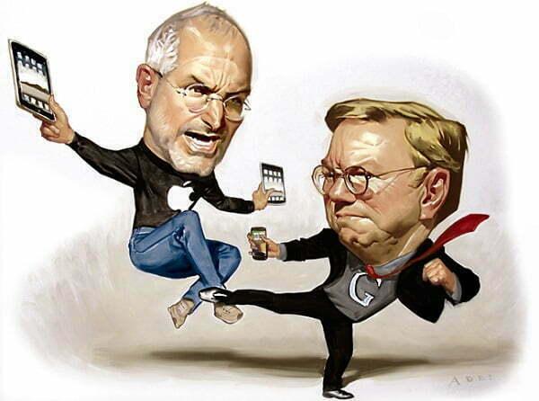 Read more about the article 5 lĩnh vực Google tấn công vào đối thủ Apple
