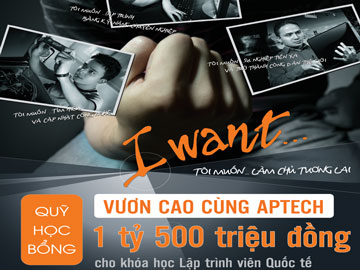 """Học bổng """"Vươn cao cùng Hanoi-Aptech"""": Chắp cánh ước mơ IT"""