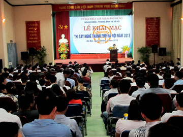 Đội tuyển Hanoi – Aptech tiếp tục tham gia Hội thi tay nghề TP Hà Nội năm 2013