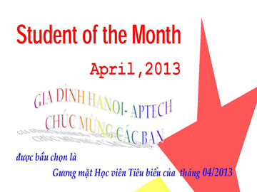 Học viên tiêu biểu tháng 4/2013