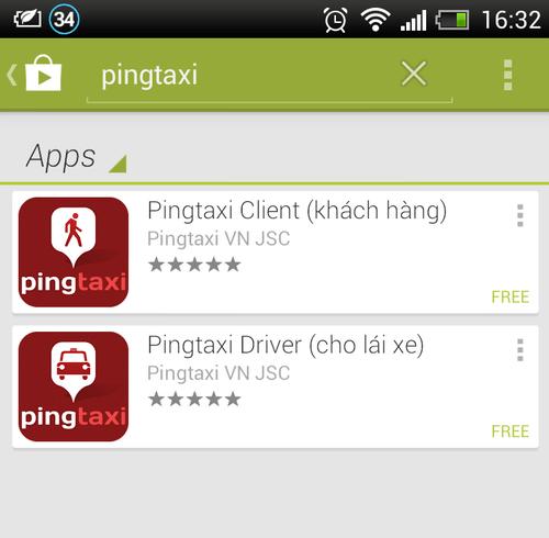 Phần mềm Pingtaxi tham vọng thay đổi cách gọi taxi của người Việt