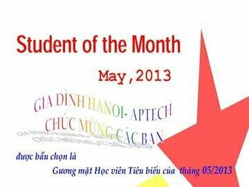 Read more about the article Học viên tiêu biểu tháng 5/2013