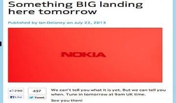 Phablet cùng máy tính bảng Nokia sẽ được ra mắt hôm nay