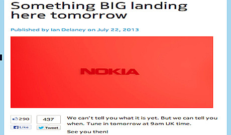Read more about the article Phablet cùng máy tính bảng Nokia sẽ được ra mắt hôm nay