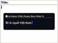 Gõ tiếng Việt tốc độ nhanh