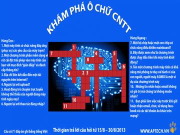 Hanoi – Aptech: Giải ô chữ rinh quà tặng với khám phá Ô chữ CNTT số 9