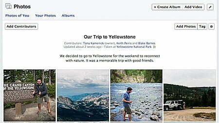 """Facebook thêm tính năng """"một album, nhiều người xài""""- 1"""