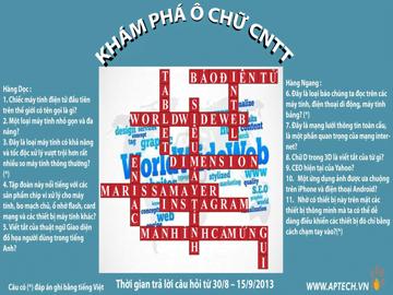 Khép lại 10 ô số của sân chơi Khám phá Ô chữ CNTT do Hanoi – Aptech tổ chức