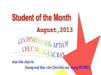 Học viên tiêu biểu tháng 8/2013