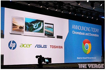"""Google """"bắt tay"""" Intel, Asus và Toshiba sản xuất Chromebook mới-1"""