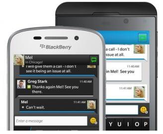 Blackberry chính thức ra mắt phần mềm chat Blackberry Messenger
