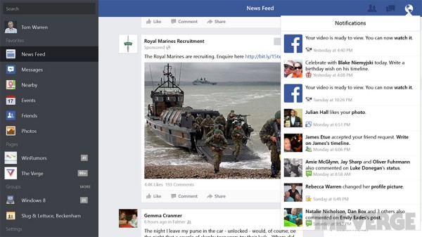 Ứng dụng Facebook đã có trên Windows 8.1 - 2