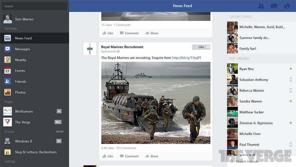 Ứng dụng Facebook đã có trên Windows 8.1 - 3