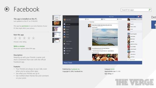 Ứng dụng Facebook đã có trên Windows 8.1 - 1