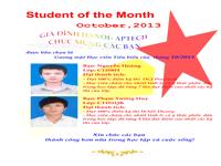 Read more about the article Học viên tiêu biểu tháng 10/2013
