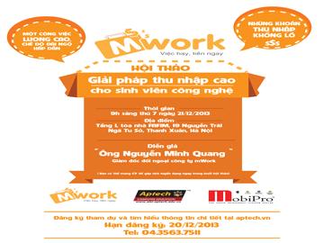 """Khởi nghiệp thành công với """"mWork – Giải pháp thu nhập cao cho sinh viên công nghệ"""""""