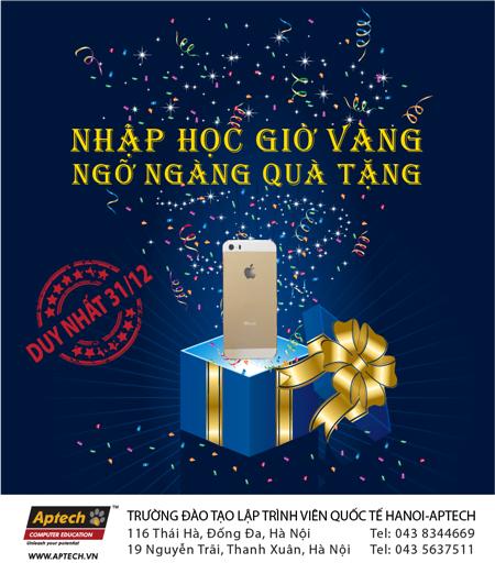 Bùng nổ sự kiện Tặng iphone 5S ngày 31/12/2013 tại Hanoi- Aptech-2