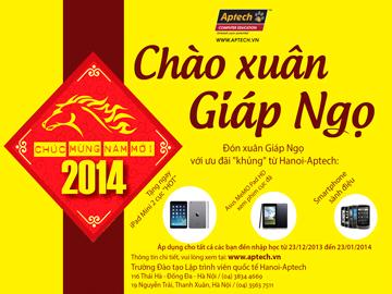 F5 đam mê công nghệ của bạn cùng quà tặng đầu xuân từ Hanoi – Aptech
