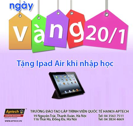 Tới ngay Hanoi- Aptech nhận iPad Air- Đón chào năm mới-2