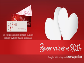 """Read more about the article Bùng nổ """"Sweet Valentine 2014"""" nhận ngay Coupon Mama Chocolate từ Hanoi-Aptech"""